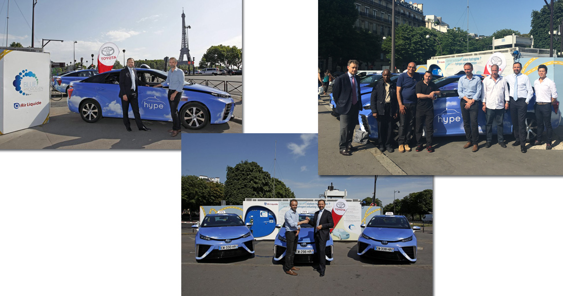 toyota france livre trois mirai la flotte de taxis hype toyota pertuis. Black Bedroom Furniture Sets. Home Design Ideas