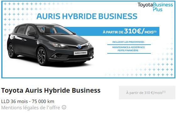 Toyota Auris Hybride Business