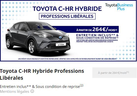 C-HR HYBRIDE PROFESSION LIBERALES
