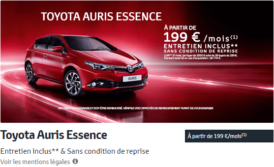 Toyota Auris Essence